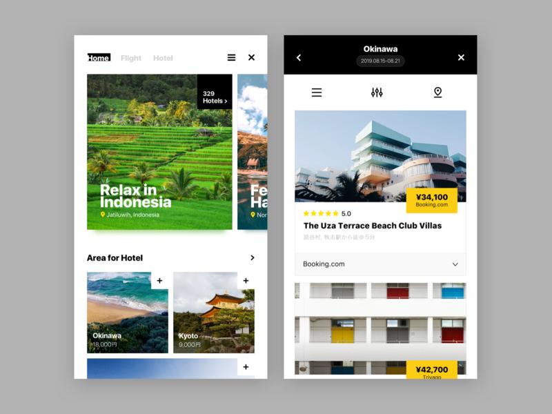 travel concept UI