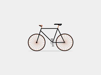 Single speed debut wheels bronze single speed bike illustrated
