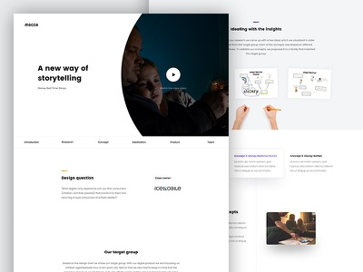 Team Mocca - Onepager webdesign code case study onepage