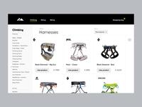 Outdoor Sportsgear UI