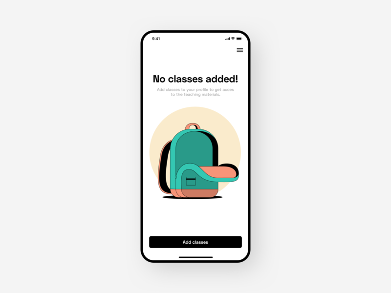 Empty state app design space-grotesk emptystate illustration backpack app ux ui