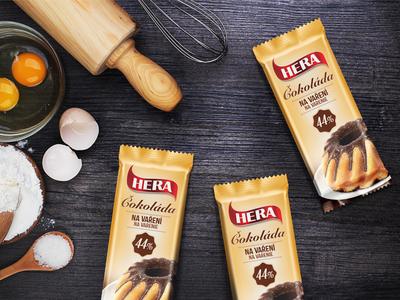 HERA - chocolate for baking retouching identity brand baking package design chocolate