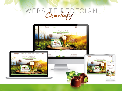Redesign of website Chmelinky.cz redesign hop chmelinky chocolate pralines web design responsive webdesign
