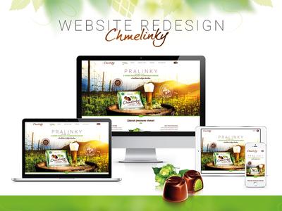 Redesign of website Chmelinky.cz redesign hop chmelinky chocolate pralines web design responsive webdesign