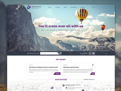 ARROWS advisory web brand redesign arrow audit law responsive website webdesign