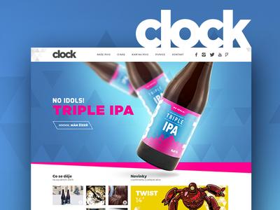 Clock beers - website responsive brand webdesign package design beer design graphic website web