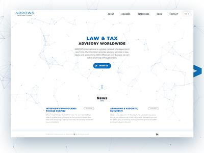 Arrows International - responsive webdesign website ux design ux  ui arrows graphic legal law web responsive design webdesign