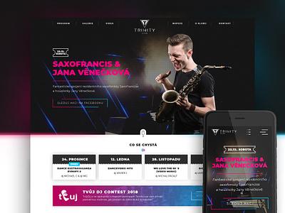 Trinity Club - Website music trinity club party club club night website ux design ux  ui graphic legal law web responsive design webdesign