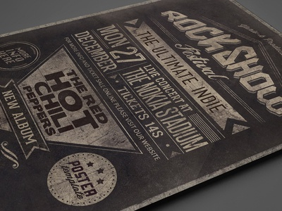 Typography Poster Vol.1 concert gig flyer template festival acoustic typography poster show band music alternative indie rock vintage grunge print design old school