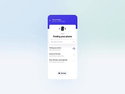Urban Smartlock Visiting Experience 🎩✨ figma lottie urban micro interaction product design ux ui real estate app design clean