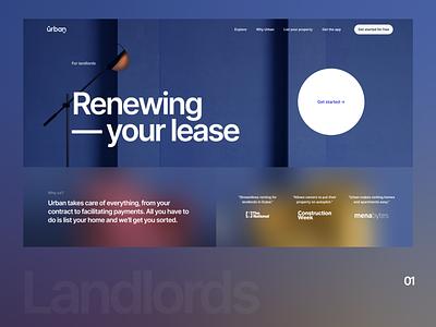 Urban Landlord Renewals Landing Page proptech webdesign ui landingpage