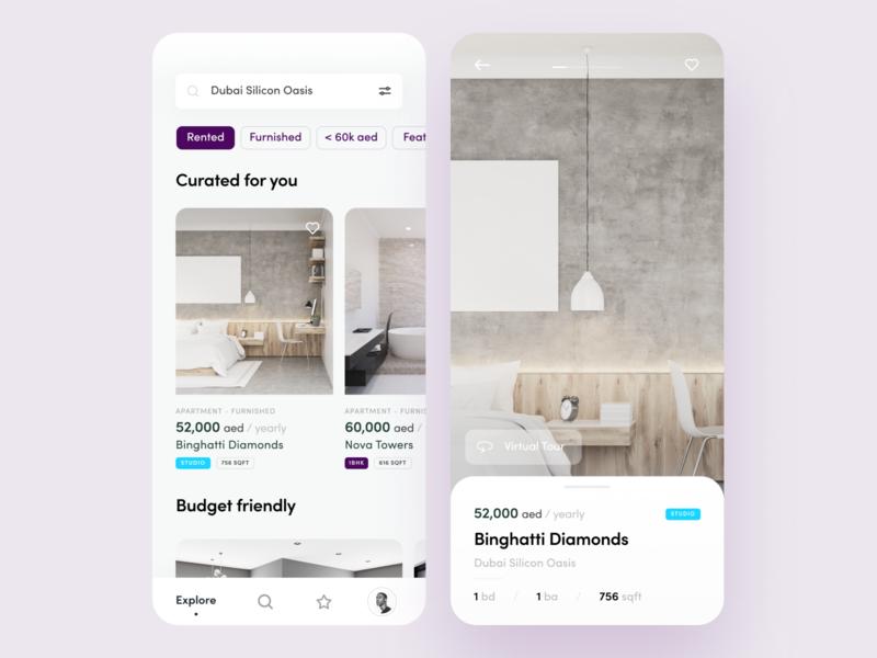 Real Estate App - Concept details booking mobile reservation ios clean ux startup real estate app ui