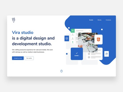 Vira studio website - Concept