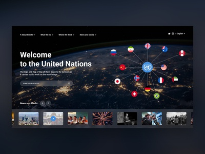 United Nations - Concept (Dark)