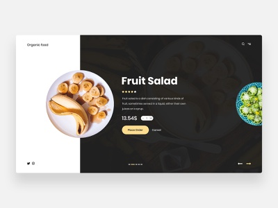 Food ordering - Concept minimal healthyfood breakfast tasty restaurant ordering meals lunch food app kitchen dish delivery shop order food order banana fruit salad fruits fruit food