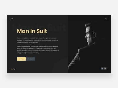 Men Fashion - Concept gentleman stylish classy classic homepage webdesign uiux ui clean ui clean minimalistic minimalism minimalist minimal dark black handsome suit fashion men fashion