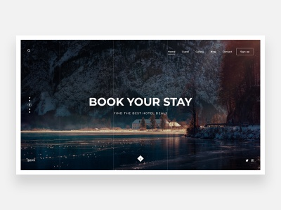 Tourism - Concept fresh forest jungle places place simple view lake tourism hotel minimalist concept landing page landing webdesign clean ui ui homepage clean minimal