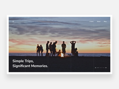 Camp - Concept camping sea view simple friendship friends places place minimalism minimal home page landing page landing homepage concept clean ui clean tourism travel camp
