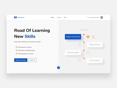 Academic - Concept learning learn skill skills road simple minimalism concept landing webdesign landing page homepage minimal clean school college students student academics
