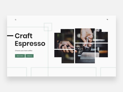 Coffee shop - Concept latte cappuccino espresso header concept ux uiux ui coffee cup coffee bean starbucks drink coffee shop coffeeshop coffee webdesign clean ui homepage clean minimal