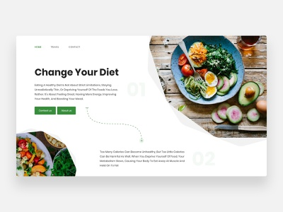 Healthy Food - Concept clean ui consulting consultant food ordering food order lifestyle diet yoga home page webdesign landing eating drink eat healthy life organic fruit food healthy food