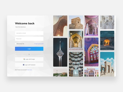 Login - Concept login form webdesign design sign up clean logodesign persian ui persian web whitespace clean ui minimalist minimalism minimal iranian iran persian login page register login design login