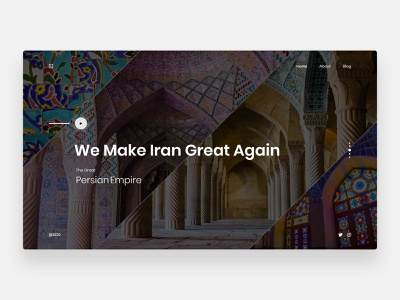 Persian Empire - Concept antiquities mosque persian web persian ui ایرانی ایران cultural culture minimalist minimalism concept webdesign homepage clean ui clean minimal persia persian iranian iran