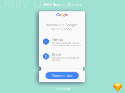 Daily UI #061 Redeem Coupon