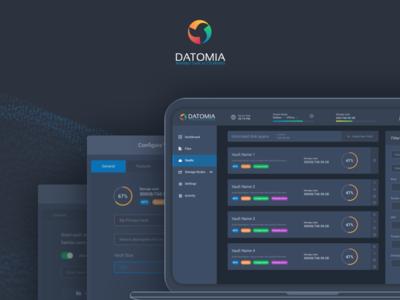 Datomia Overview web ux ui showcase dashboard cloud admin