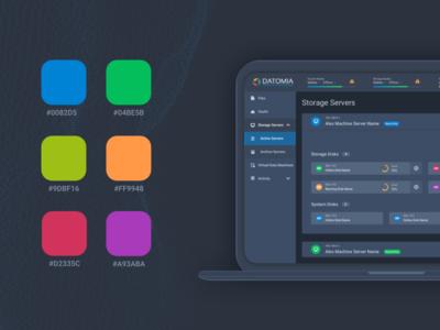 Datomia Color Palette palette web ux ui showcase dashboard cloud admin