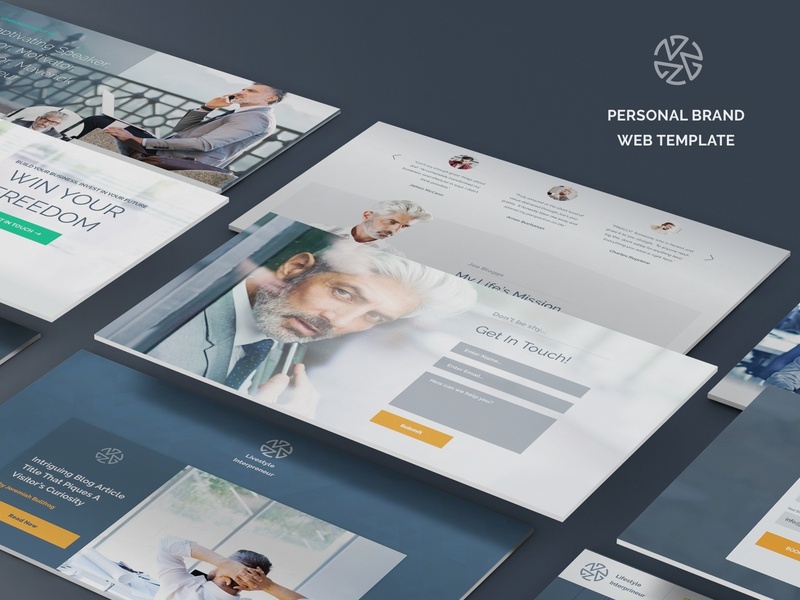 Personal brand web-template web uiux brand sketch personal design template