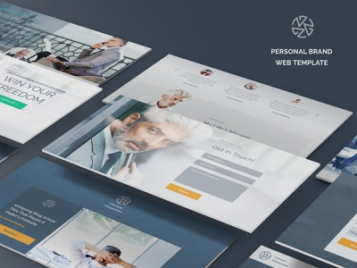 Personal brand web-template web uiux brand sketch personal design template