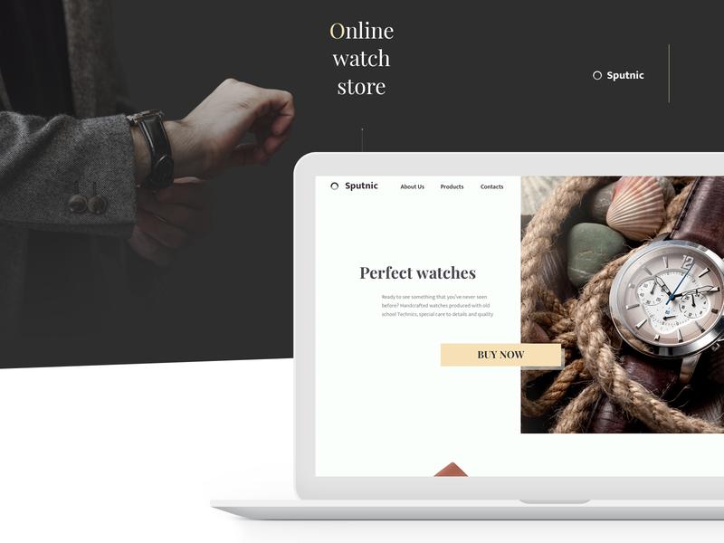 Online Watch Store web watch uiux store sketch design