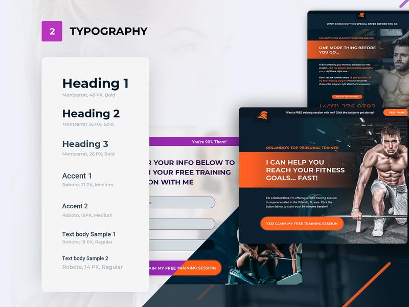Fitnes Trainer Typography overview design sketch brand uiux template web fitnes trainer