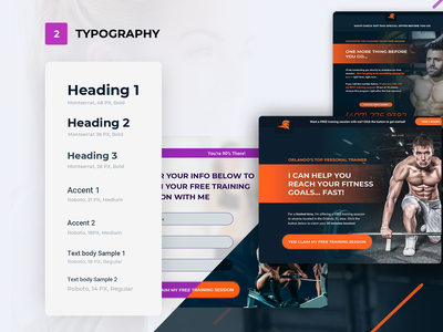 Fitnes Trainer Typography overview design sketch brand uiux template web fitnes trainer