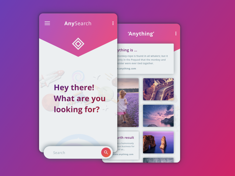 Search App Concept – Daily UI #022 – Freebie