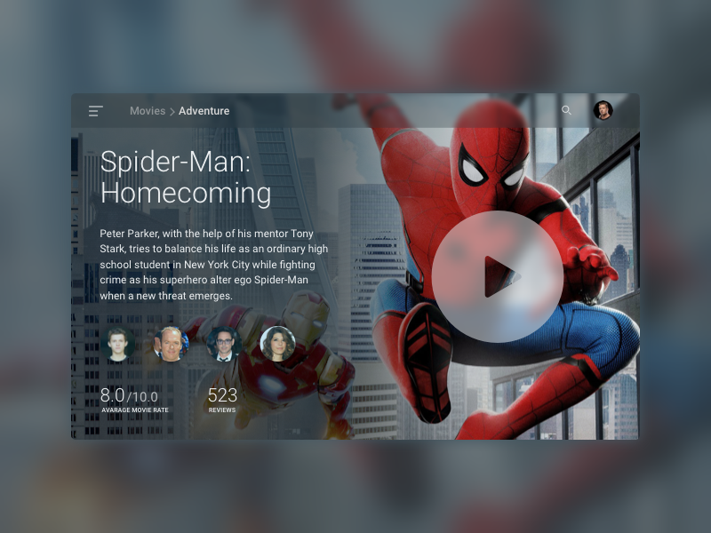 TV Movie App – Daily UI #025 – Freebie