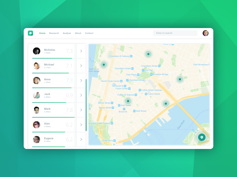 Map – Daily UI #029 – Freebie