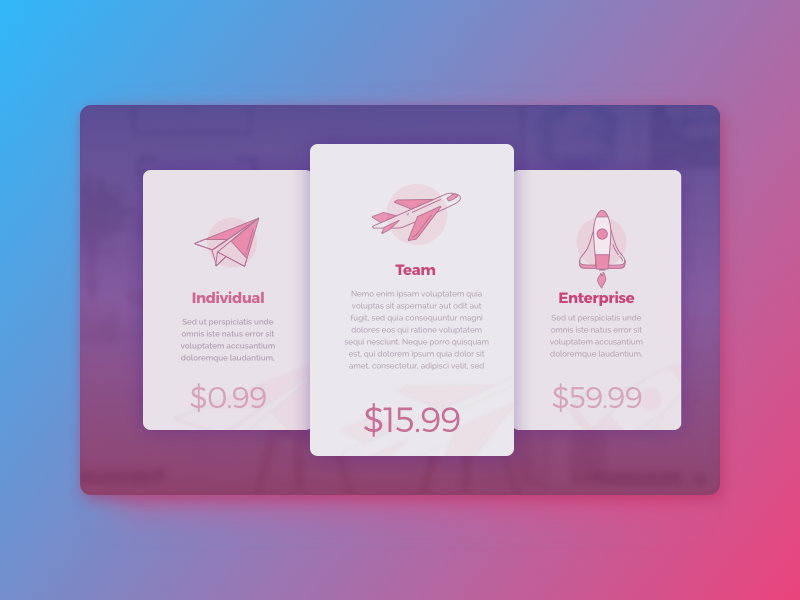 Pricing – Daily UI #030 – Freebie