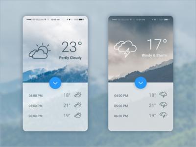 Weather - Daily UI #037 - Freebie