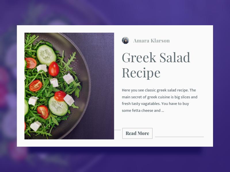 Recipe – Daily UI #040 – Freebie