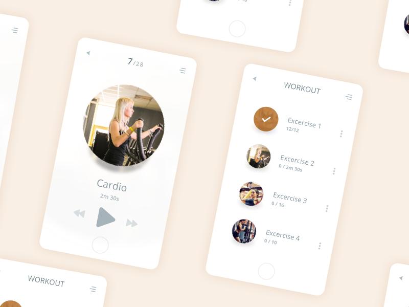 Fitness App – Daily UI #041 – Freebie