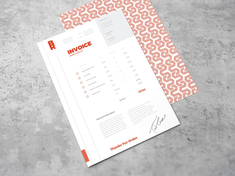 Invoice – Daily UI #046 – Freebie