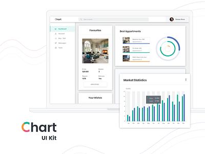 Apartments rental dashboard web free sketch legend progress pie donut plot chart comparison linear