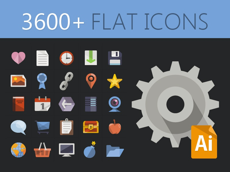 3600+ Free Flat Icons icons ai free freebie free icons flat icon set icon