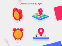 3D Style Icons Pack by iconshock product landing icons design iconset icons pack icons set design download icon icons
