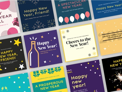 Free Happy New Year Templates - Artify happy holiday happy holidays cards ui 2020 2021 new year new happy new year christmas merrychristmas merry christmas cards design freebies free templates