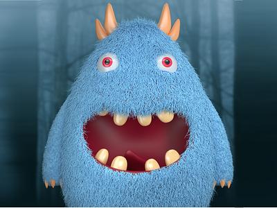 3D Monster monster illustration 3d