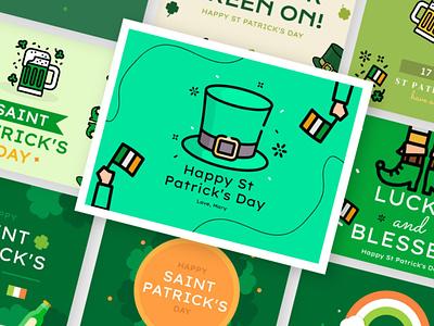 St. Patrick's Day Designs Pack by Artify stpatricksday icons design illustration download vector