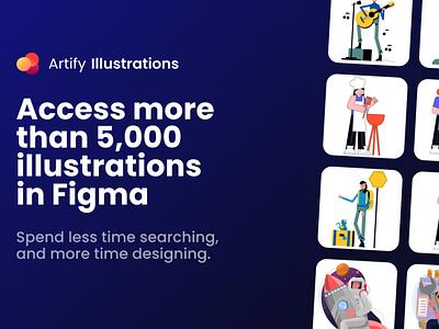 A New Figma Plugin by Artify figma illustration free vector freebie
